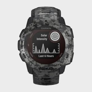 Garmin Instinct Solar Multi-Sport GPS Watch, Grey/Black