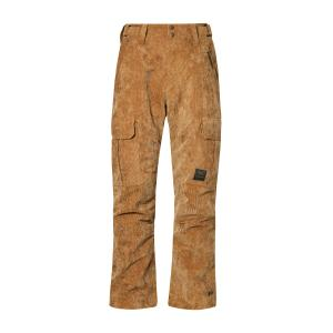 Protest Men's Edge Corduroy Ski Trousers - Brown/Brown, Brown/Brown