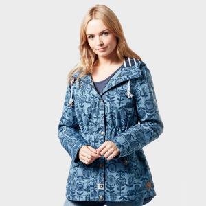 Weird Fish Women's Agnes Showerproof Jacket - Blue/Jkt, Blue/JKT