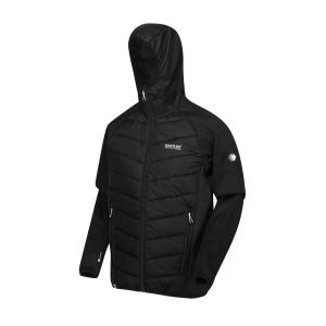 Regatta Men's Andreson Hybrid Jacket - Black/Bl, Black/BL