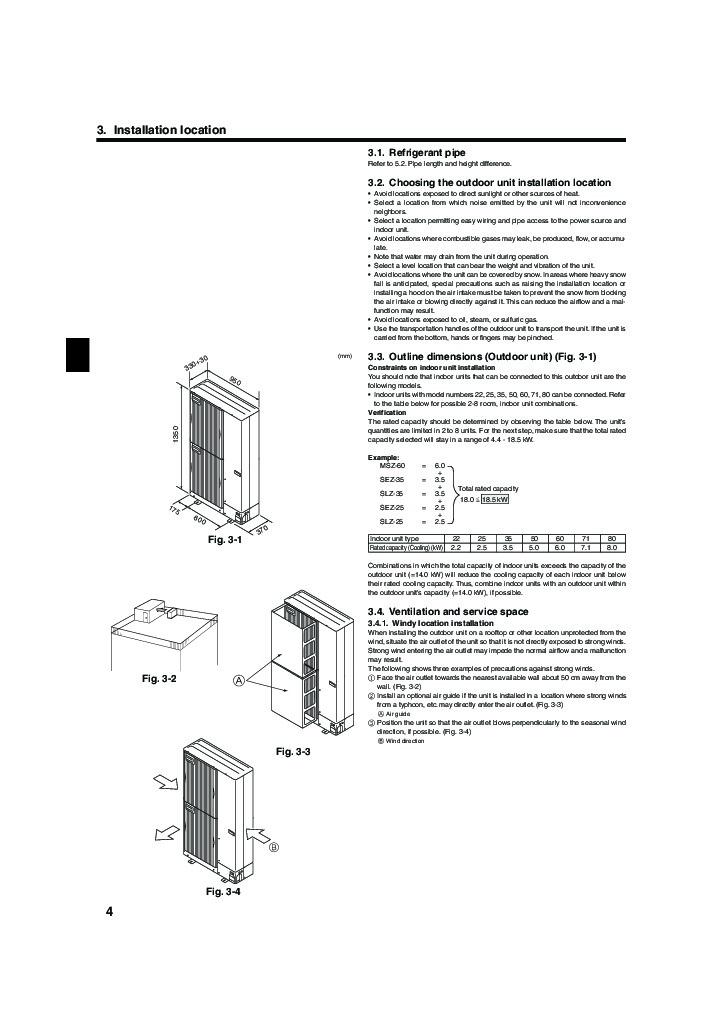 Mitsubishi electric air conditioners mr slim manual