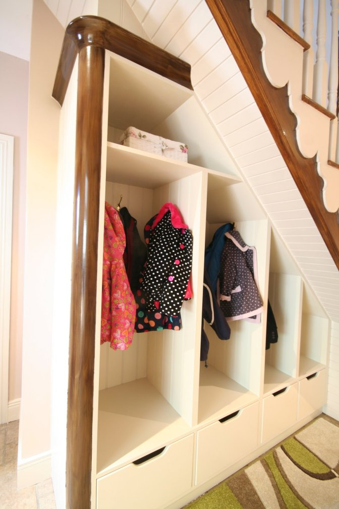 Bespoke storage unit under stairs