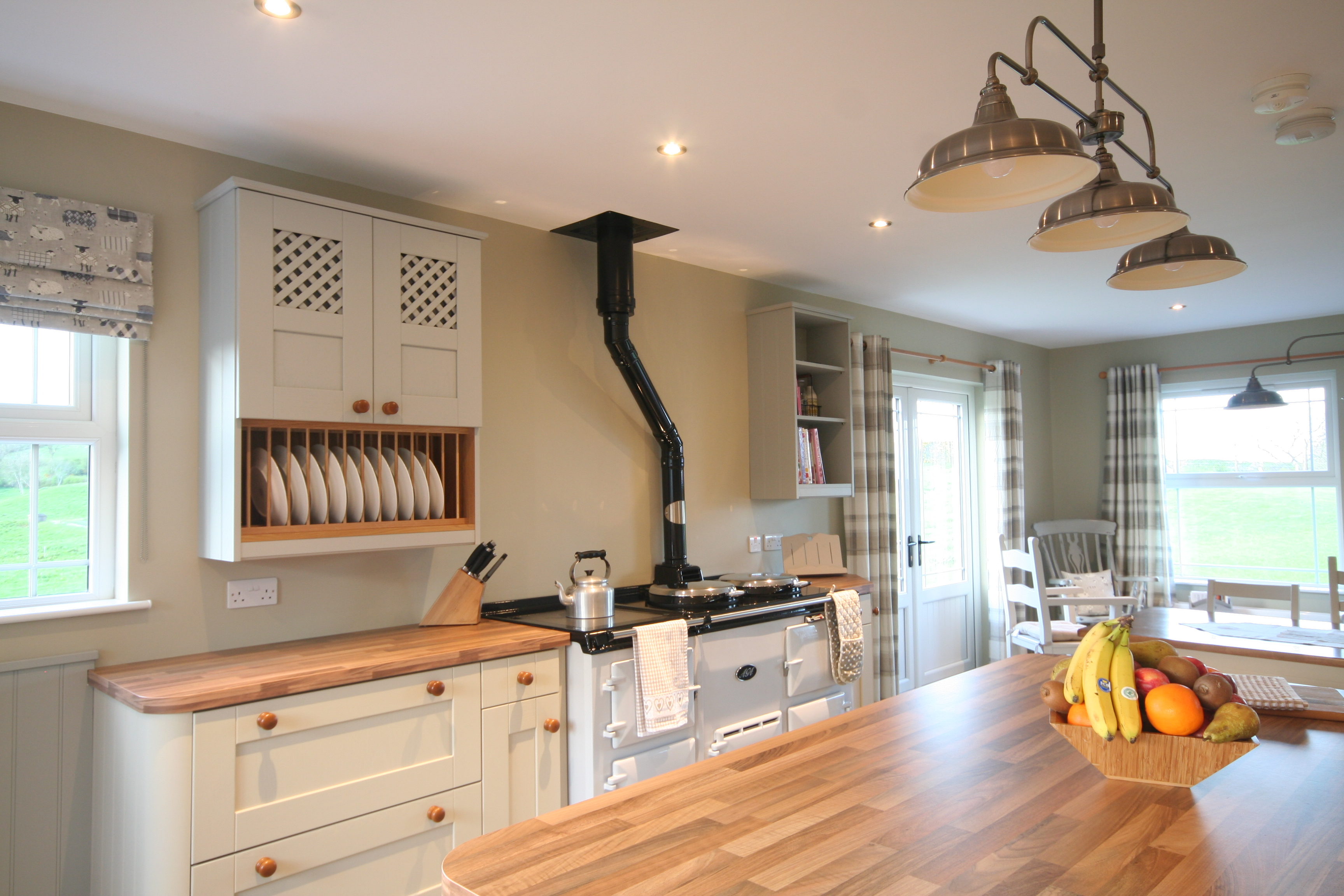 Plate rack, Bookcase and 4 oven AGA