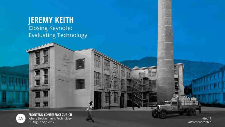 Jeremy Keith Keynote Title Slide