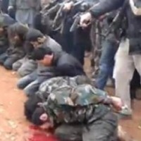 This graphic image was widely distributed but is not related to news events out of Kessab