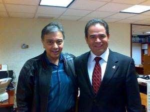 J. David Peña Castillo y Miguel Antonio Osuna Millán, diputado presidente de la comisión de salud de la Legislatura LXI