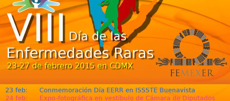 Cartel informativo sobre los eventos de la Semana EERR 2015