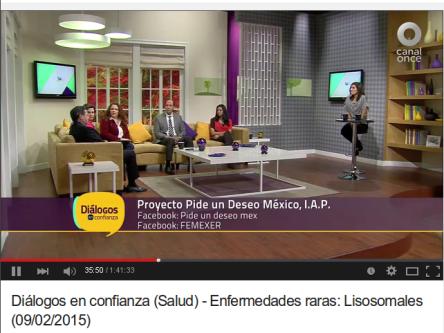 Canal OnceTV (IPN), Diálogos en Confianza, enfermedades raras