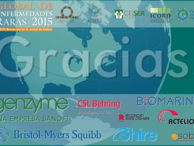 Gracias. Agradecimiento a nuestros patrocinadores: Genzyme, Shire, Bristol-Myers Squibb, Biomarin, Actelion, CSL Behring, Rare Diseases Recordati, Sobi.
