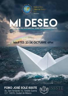"""Cartel de invitación a la obra de teatro """"Mi Deseo"""""""