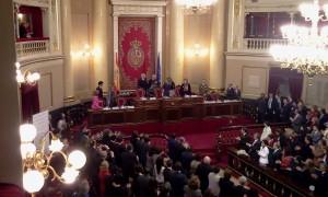 SAR la Princesa Letizia en el Senado español