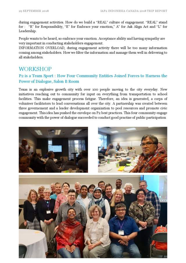 IAP2 Indonesia goes to Victoria BC