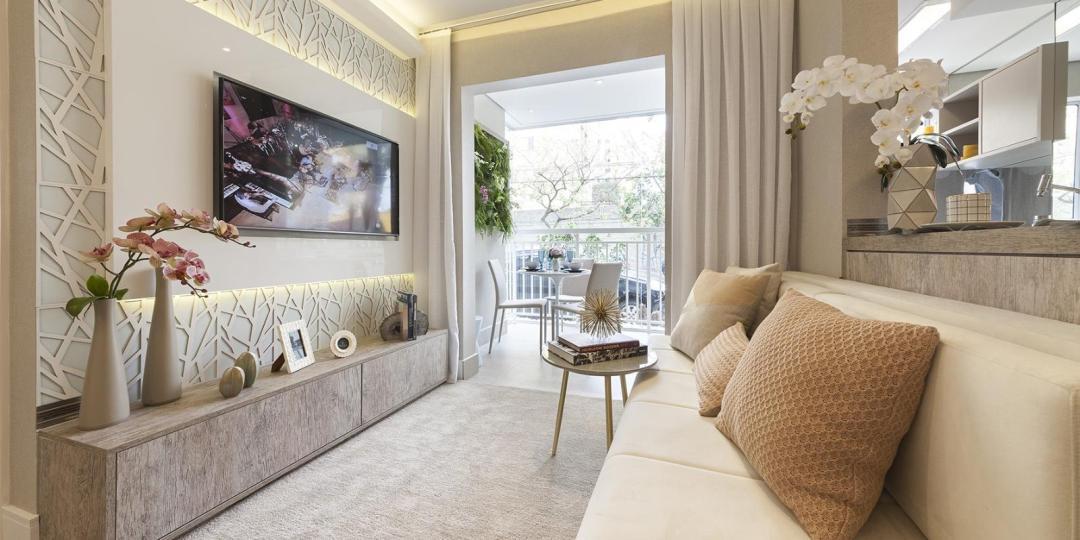 Ampla sala integrada com Terraço