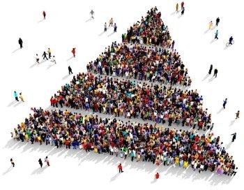 people pyramid stratification