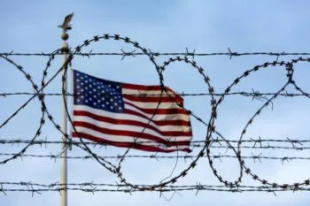 american flag barbed wire