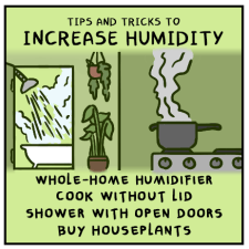 Increase humidity with whole home humidifier