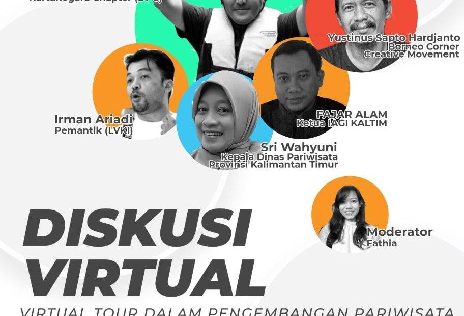 Poster Diskusi Virtual bertajuk mengenal teknologi sebagai strategi pariwisata di masa pandemi