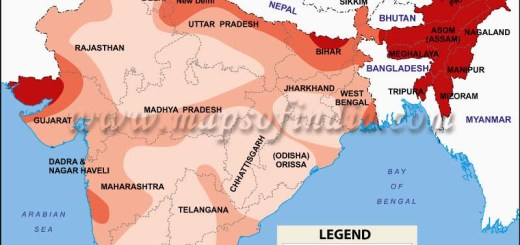 Map of Sesmic Zones of India
