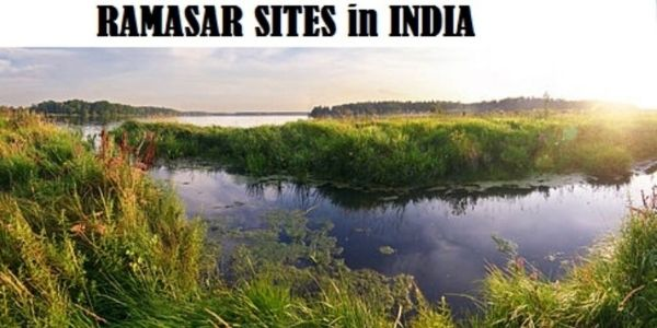 Get the complete details of the Ramsar Sites in India and related details.