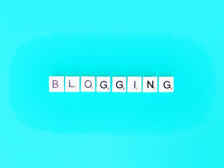 Blogging scrabble letters.