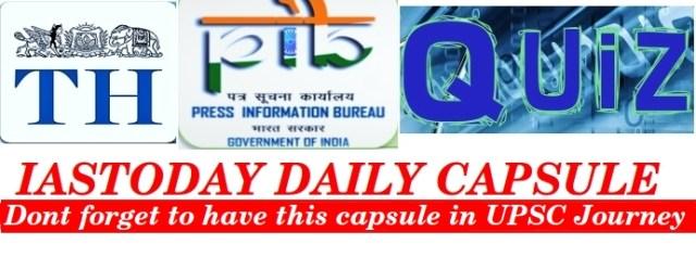 IASTODAY DAILY CAPSULE @ 7PM- MAY 4 [PIB, Hindu notes & MCQ
