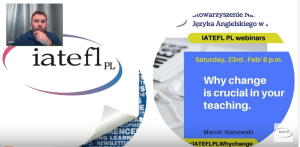 "2nd webinar: Why ""change"" is crucial in your teaching?"