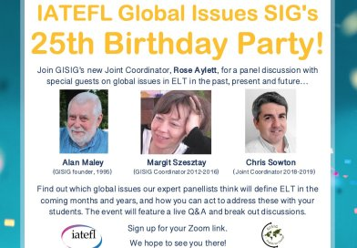 25th  anniversary of IATEFL Global Issues SIG – sign up for the on-line event!