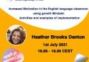 Increased Motivation in the English language classroom using growth Mindset – Heather Brooks Denton