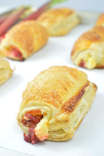 Rhubarb-Cheese Danish