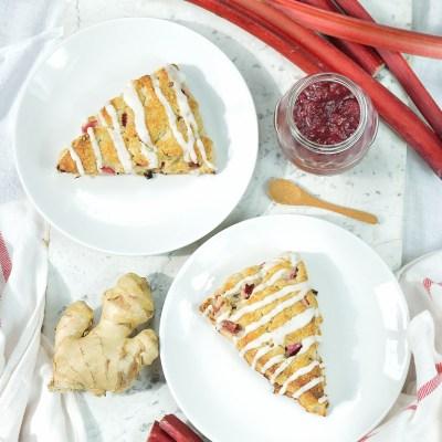 Rhubarb-Ginger Scones