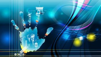 Hi-Tech biométrie binaires futur futuriste main