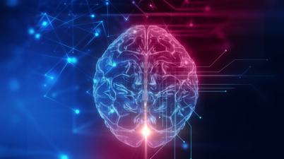 3D, cerveau humain, technologie, intelligence artificielle, cyber espace