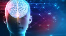 Rendu 3d, cerveau humain, technologie, intelligence artificielle, cyber espace