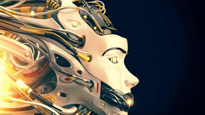 cyber-girl robot