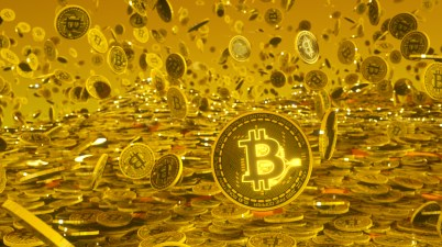 Bitcoin, Bitcoins, crypto, argent, or, Goldrain, devise