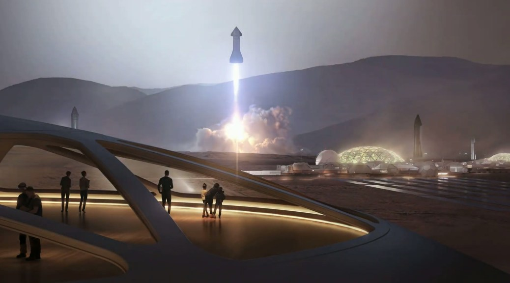 SpaceX à la surface de Mars