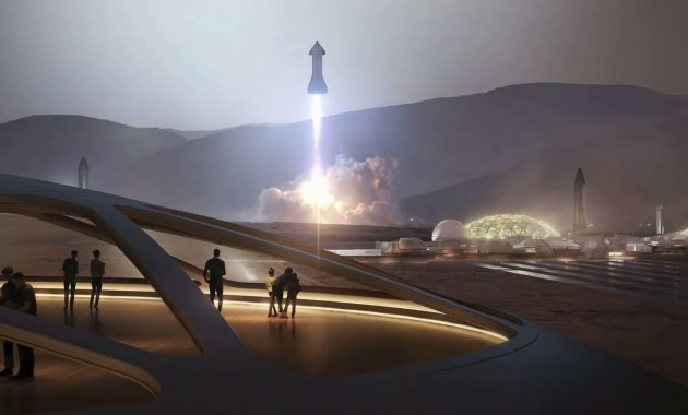 SpaceX à la surface de Mars