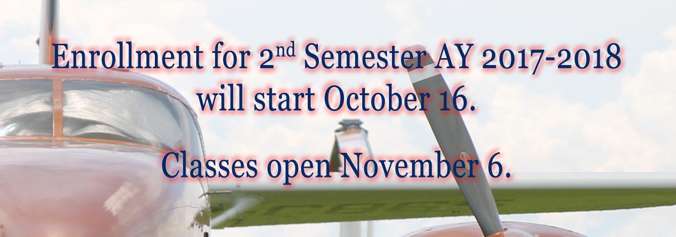 Enrollment 2nd Sem 2017-2018