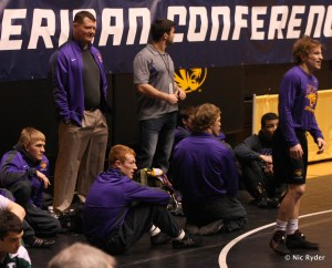 The Panthers wait for the start of action at the MAC Tournament