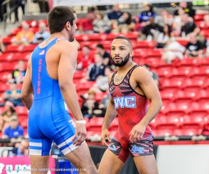 Angel Escobedo at the 2015 US Open. Tony Rotundo - Wrestlersarewarrios.com