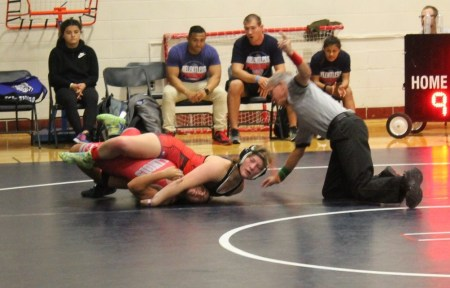 Ciana Sonberg of Charles City wrestling at the Midwest Mat of Dreams pre-season duals.