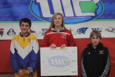 Felicity Taylor of South Winneshiek-2016 Upper Iowa Conference, 106 Pound Champion (Photo Courtesy of Christa Taylor)