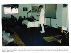 Inside multi-purpose temporary Mosque