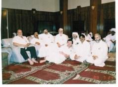 Qamar Khan with Aus delegates