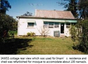 Cottage rear view entrance 1985