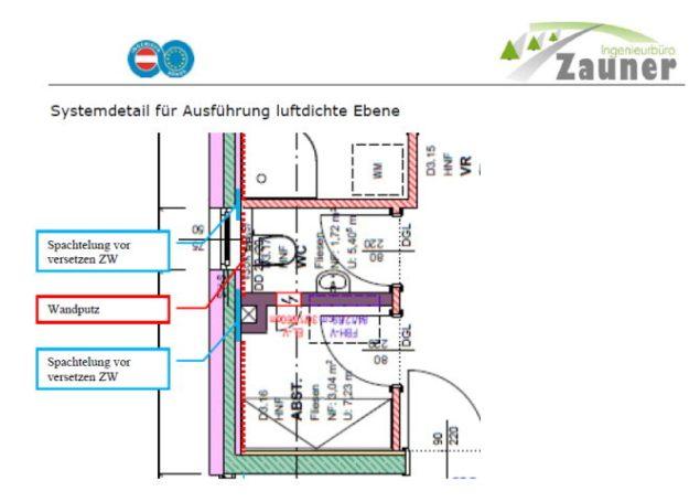 IB-Zauner Luftdichtheitskonzept Planung