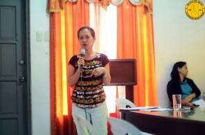 Ibinahagi ni G. Ethel Joy Caiga-Salazar, hepe ng Municipal Agriculture Office, ang mga proyekto na kasalukuyang ipinapatupad at ipapatupad sa ssusunod na taon na pinangungunahan ng kanyang opisina. Ilan sa mga proyekto ay bunga ng CSO-LPRAT Assembly noong 2013.