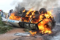 picture from accident scene on Lagos Ibadan Expressway