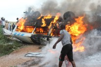 picture from the accident scene on Lagos Ibadan Expressway