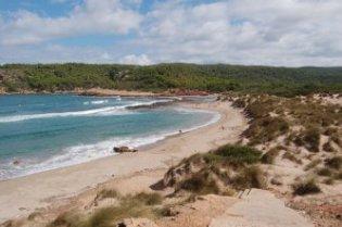 Cala Algaiarens beach in Menorca island